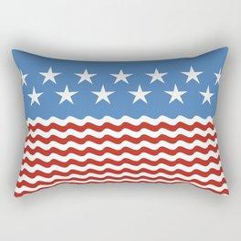 Patriotic Wave Rectangular Pillow
