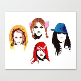 Britney Look Book Canvas Print