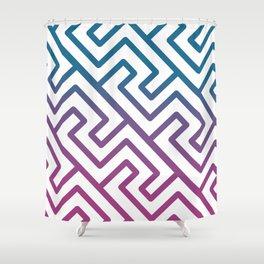 Greek pattern in gradient Shower Curtain