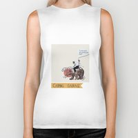 camping Biker Tanks featuring Camping Sauvage by Au cabaretdesoiseaux