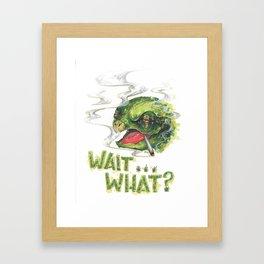 Wait... What?  Framed Art Print