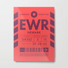 Luggage Tag D - EWR Newark USA Metal Print