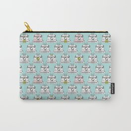 Vintage Polaroid toy camera pattern print Carry-All Pouch