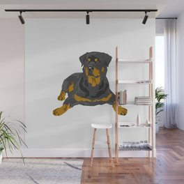 Hottweiler dog Wall Mural