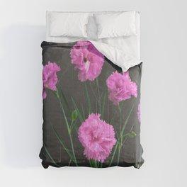 Pinks on Slate Comforters