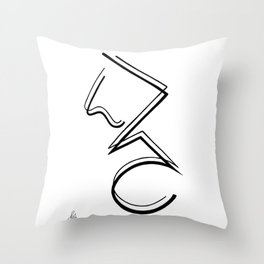Three Dimensional II Throw Pillow