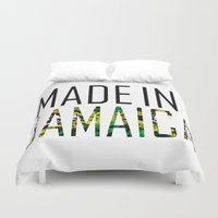 jamaica Duvet Covers featuring Made In Jamaica by VirgoSpice