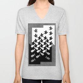 Maurits Cornelis Escher - Sky and Water 2 Unisex V-Neck
