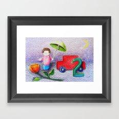 Crayon Love Toys I've Stepped On Framed Art Print