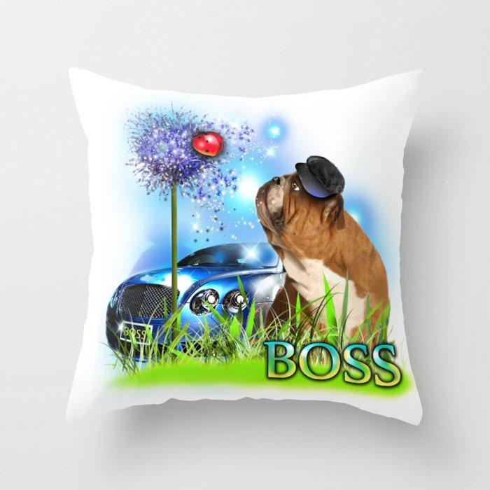 Unique Digital Design ''Boss'' Throw Pillow