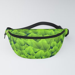 Green leaves pattern Fanny Pack
