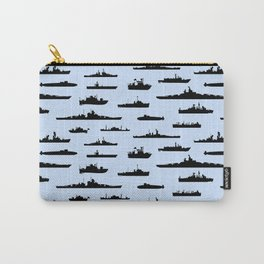 Battleship // Light Blue Carry-All Pouch
