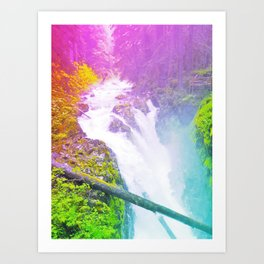 Wonderland Waterfall Art Print