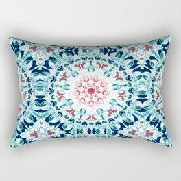 Blush & Blue Mandala Rectangular Pillow