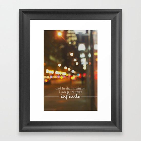 perks of being a wallflower - we were infinite Framed Art Print