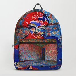 Portrait of A Young Immigrant Backpack