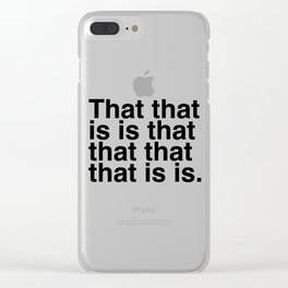 What is that? Clear iPhone Case