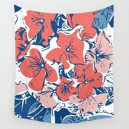 Retro Hydrangea Wall Tapestry