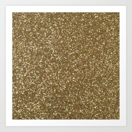 golden glitter Art Print