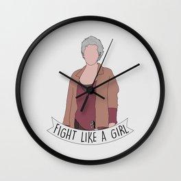 Fight Like Carol Wall Clock