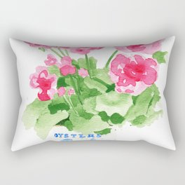 Potted Geranium no. 2 Rectangular Pillow