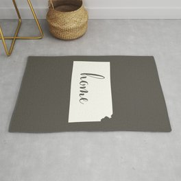Kansas is Home - White on Charcoal Rug
