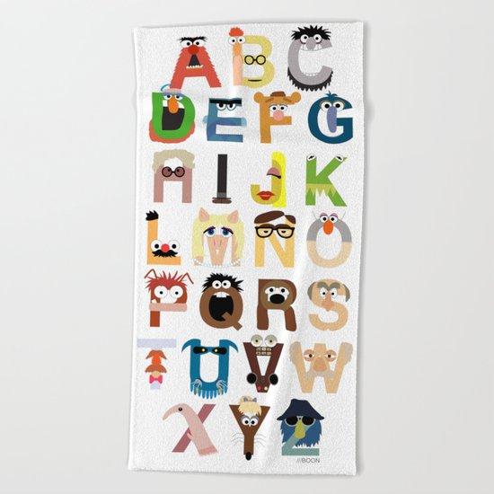 Muppet Alphabet Beach Towel