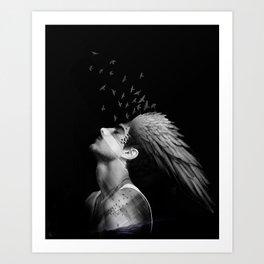 Icarus Dreaming Art Print