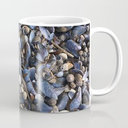 Beach floor with mussels and snails Coffee Mug