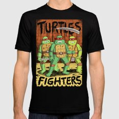 TURTLES FIGHTERS Black LARGE Mens Fitted Tee