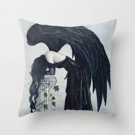 Despair Gothic Angel Throw Pillow