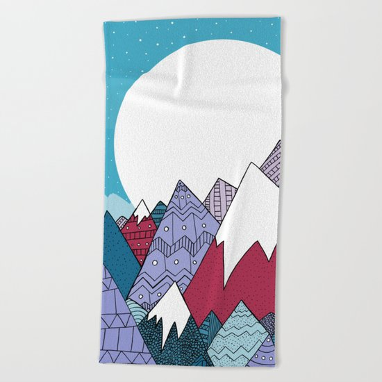 Blue Sky Mountains Beach Towel