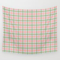 preppy Wall Tapestries featuring Preppy Plaid by Laura