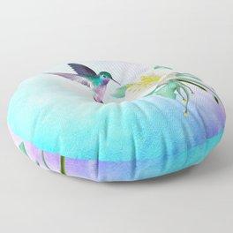 hummingbird. Floor Pillow