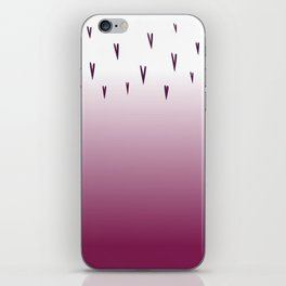 love hearts edition, pink iPhone Skin