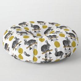 Tribal Rabbit Floor Pillow