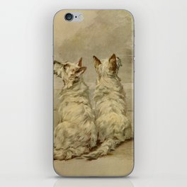 Earl,Maud(1864-1943) -The Power of the Dog1910 Terrier) iPhone Skin