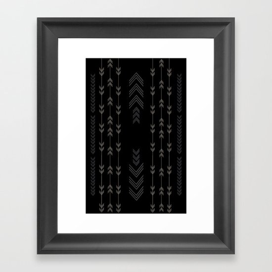 Headlands Arrows Black Framed Art Print
