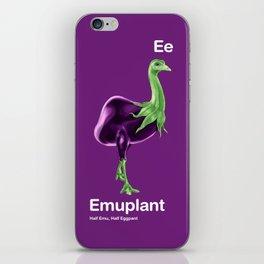 Ee - Emuplant // Half Emu, Half Eggplant iPhone Skin