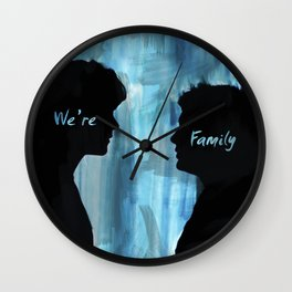 We're Family - Supernatural Wall Clock