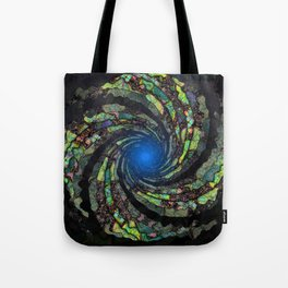 Fantasy color spiral Tote Bag