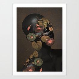 Floral Portrait 3 Art Print