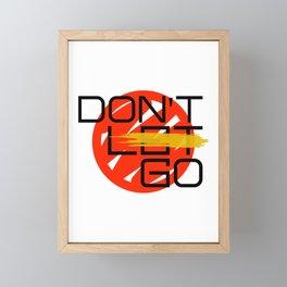 dont let go Framed Mini Art Print