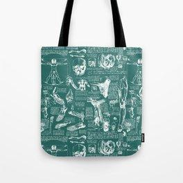 Da Vinci's Anatomy Sketchbook // Genoa Green Tote Bag