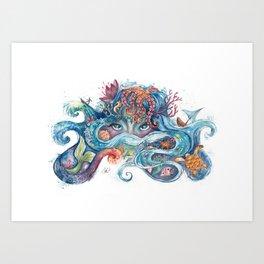 SEA NYMPH Art Print