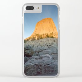 Devils Tower Clear iPhone Case