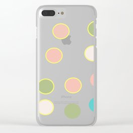 gold and tutti fruit polka dots Clear iPhone Case