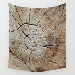 Tree rings of time Wall Tapestry