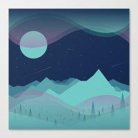 northern lights Canvas Prints featuring Northern Lights by Brad Hansen