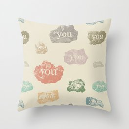 You Rock (Pattern) Throw Pillow